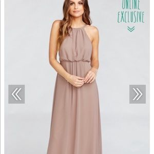 Show me your Mumu Amanda Maxi Bridesmaid Dress